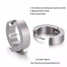 Punk Style Steel Hoop Earring (1 piece)