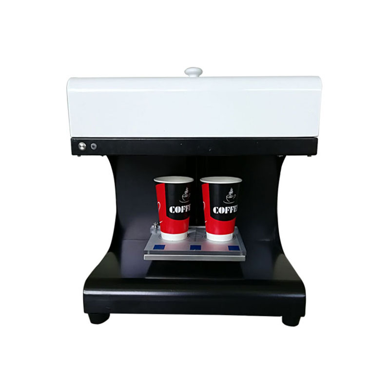 Livraison express gratuite nouveau design impression à grande vitesse 2 tasses latte art gâteau fleur café imprimante machine
