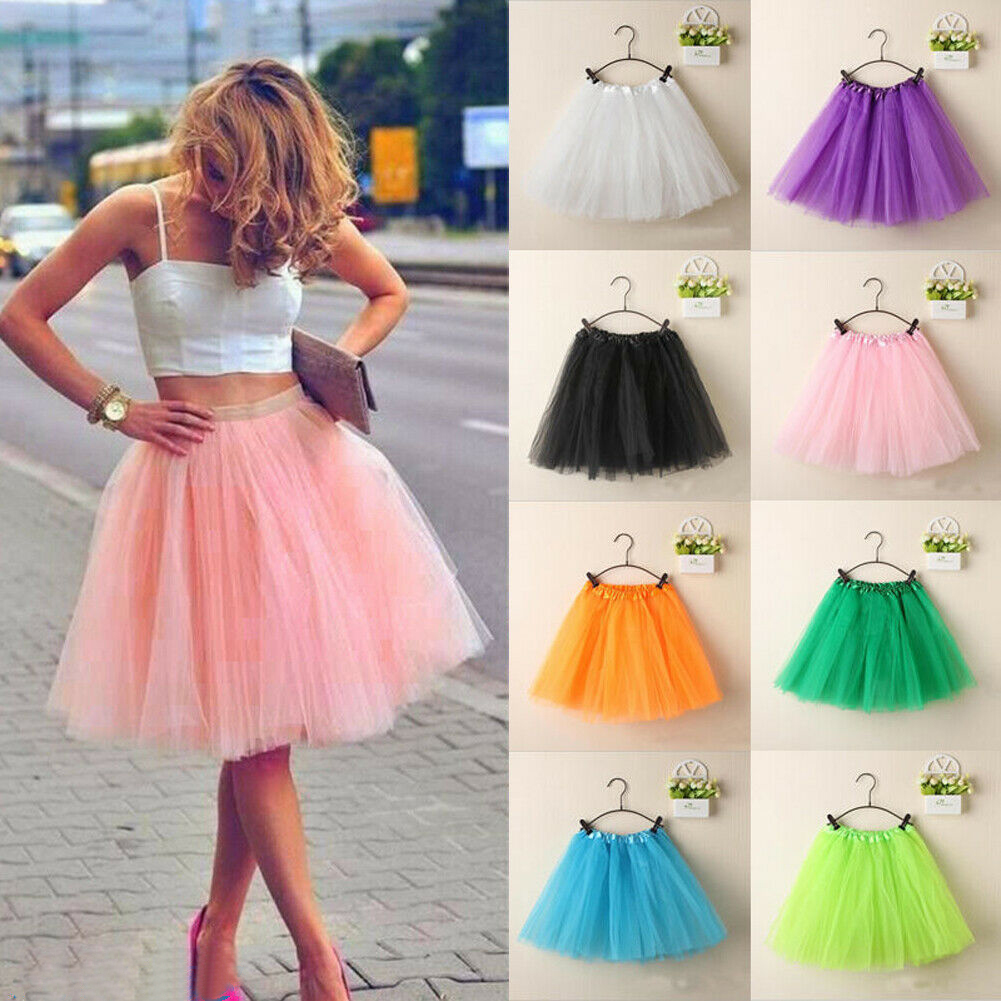 Newest Adult Women Party Costume Petticoat Princess Tulle Tutu Skirt Pettiskirt Jupe Femme