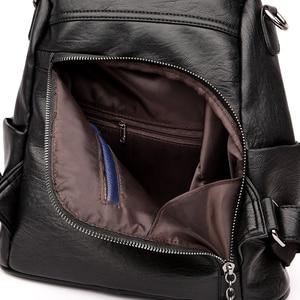 Image 4 - Women Waterproof anti theft Leather Backpacks Bags For Girls Female Shoulder Bag Multifunction Traveling Backpack Mochilas