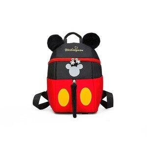 Image 2 - 2019 yeni Mickey Mouse Minnie şekli kız erkek sırt çantası çocuk çantası okul karikatür çocuk sevimli anaokulu kreş kitap çantası hediye