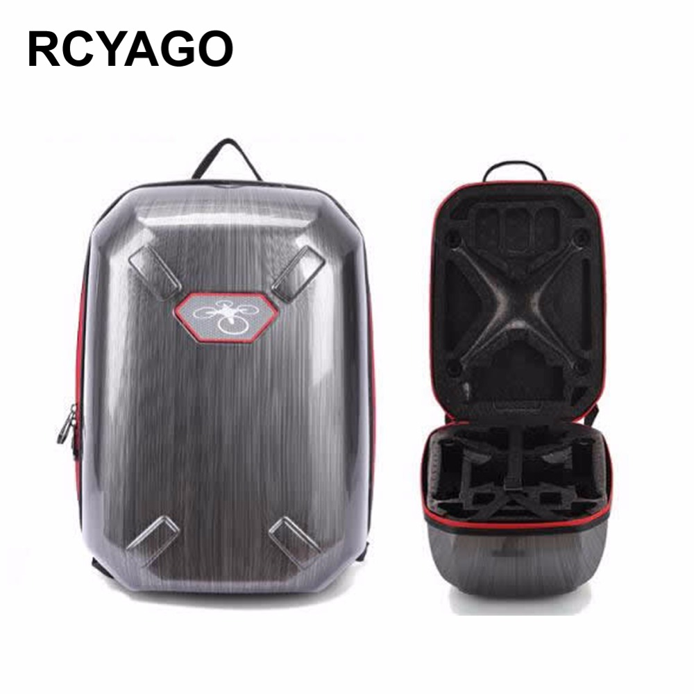 RCYAGO Brand DJI Drone Bag for Phantom 3 Phantom 4 PC Material Hardshell Backpack Drone Storage Package Waterproof Backpack travel aluminum blue dji mavic pro storage bag case box suitcase for drone battery remote controller accessories