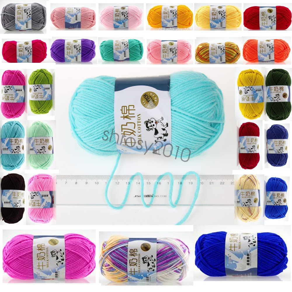 High Quality Warm DIY Milk Cotton Yarn Baby Wool Yarn For Knitting Children Hand Knitted Yarn Knit Blanket Crochet Yarn