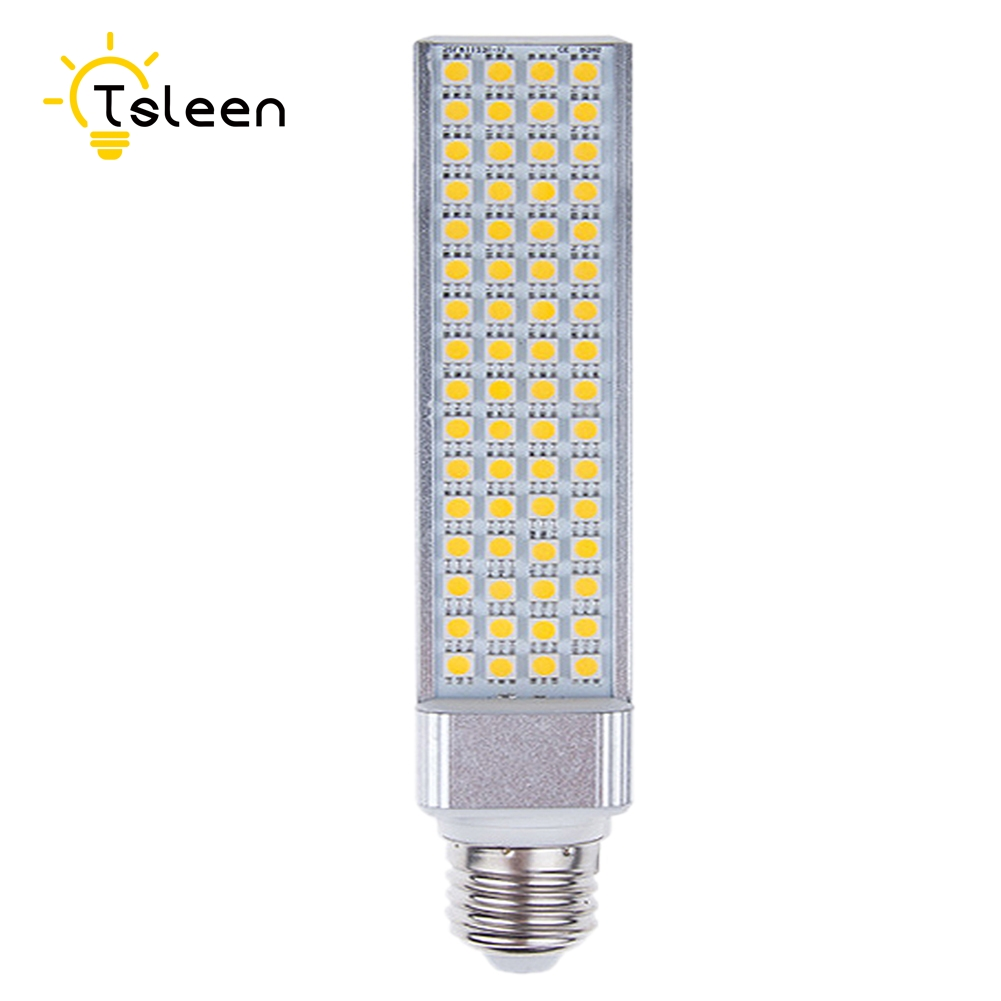 E27 G24 LED Bulbs 9W 11W 13W E27 LED Corn Bulb Lamp Light SMD 5050 Spotlight 180 Degree 110V 220V Horizontal Plug Light 85-265v energy efficient 7w e27 3014smd 72led corn bulbs led lamps