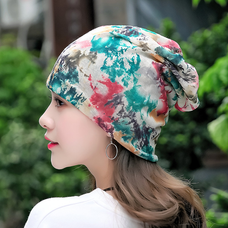 Fashion Graffiti Women   Skullies     Beanies   Autumn Winter Flower Print Graffiti Warm Hat Fashion   Skullies   Caps 10 Style