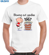 Cheap T Shirts graphic Blowing Out Candles Since 1967 50Th Birthday Crew Neck Short-Sleeve Mens Funny