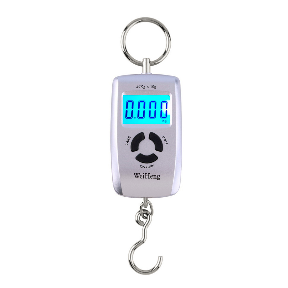 WH-A05L LCD Portable Digital Electronic Scale 10-45kg 10g for Fishing Luggage Hot Sale