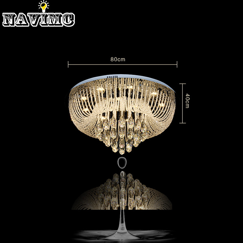 Circular Led Crystal Lamps And Lanterns Cornucopia Absorb Dome Light Of Contemporary Sitting Room Hotel Engineering Lobby Lamps Ceiling Lights Ceiling Lights & Fans