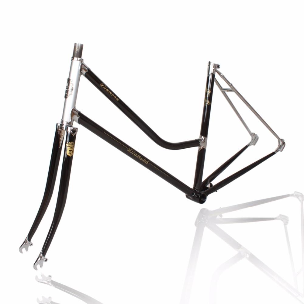 William Retro Frame Chrome Molybdenum Steel 4130 Frame Road Bike City Bike Frame Reynolds 531 FRAME FORK