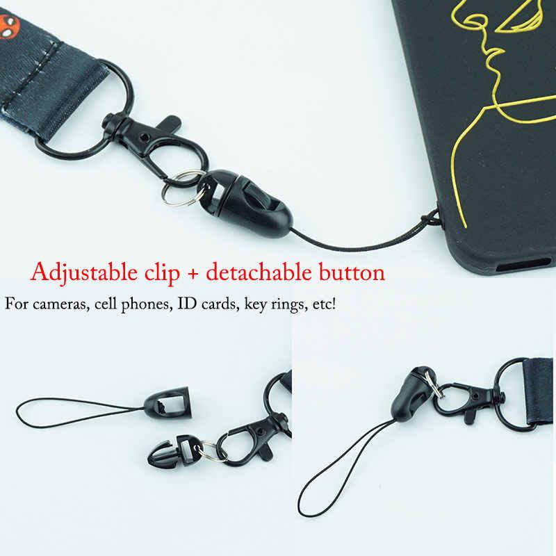Супергерой шейный ремень ремешки для keysMobile телефон ремни ID карты бейдж держатель Веревка симпатичная цепочка для ключей подарок m0401