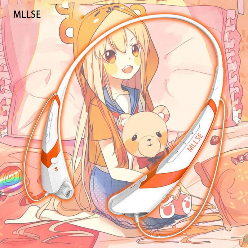 MLLSE Anime Himouto Umaru Chan Neckband Bluetooth Headphone Earphones Wireless Stereo Cosplay Headset for Iphone Samsung Xiaomi