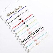 Новинка, миниатюрный браслет ручной работы из бисера с разноцветными нитками, ювелирные изделия, браслеты на удачу и браслеты для женщин и мужчин, подарки