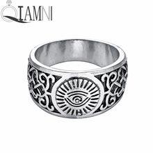 fd74a8ba8073 QIAMNI ojo egipcio hecho a mano de Horus Ra Udjat amuleto anillo eslavo nórdico  vikingo joyería regalo para hombres mujeres enca.