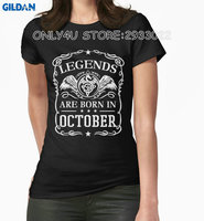 Gildan Only4U Tailored Shirts Women S Print O Neck Short Sleeve Legends Are Born In October