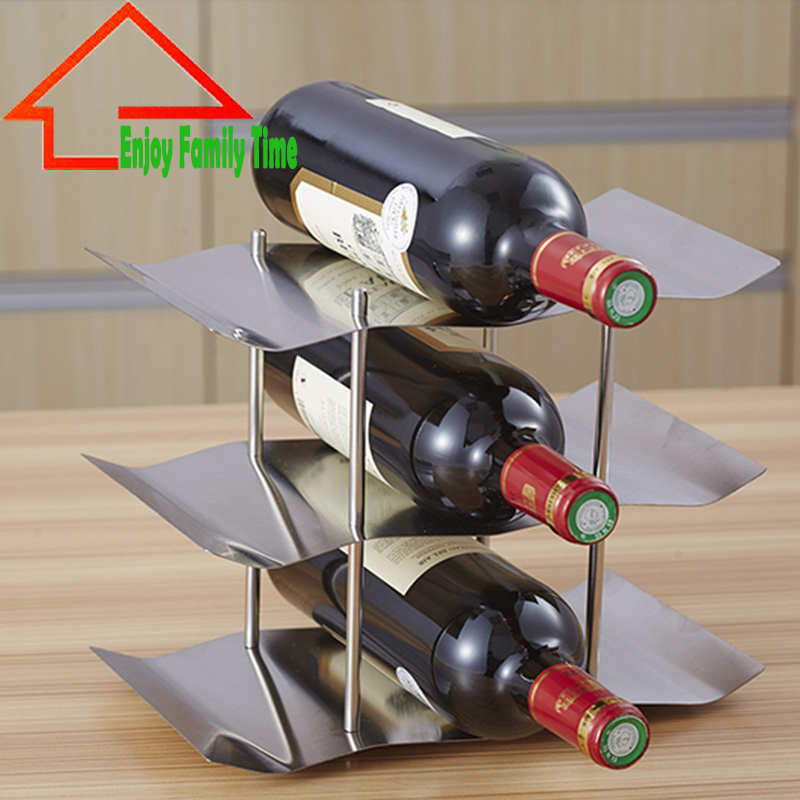 High Quality Stainless Steel Red Wine Rack 3 Floor Wine