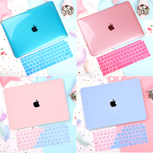 Crystal Transparent Hard Case Protect For Macbook Pro 13 15 Touch Bar A1706 A1707 A1990 2018 Air 13 Touch ID A1932