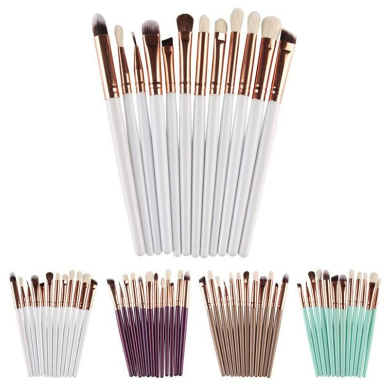 12pcs Profession Eyes Makeup Brushes Set Eyeshadow Eyeliner Lip Make Up Foundation Powder Contour Cosmetic Brush Tools Kits new 32 pcs makeup brush set powder foundation eyeshadow eyeliner lip cosmetic brushes kit beauty tools fm88