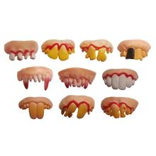 9 Style Jocularity Tricks Property Game Toy Gags & Practical Jokes Halloween Ugly Denture False Rotten Teeth Model Prank Scare(China)