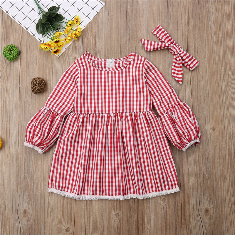 Christmas-Mother-daughter-dresses-Mom-and-me-Women-kids-girl-Cute-checkerboard-dress-elegant-Xmas-party (5)