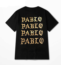 2016 New Mens Kanye West Pablo T Shirt Male Cotton The Life Of Pablo Yeezy Top Tee Casual Black T-Shirt S-3XL