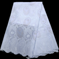 Best Quality African Lace Fabric 100% Swiss cotton Lace High Quality Emboridery French Mesh 2018 Nigeria Lace Fabric