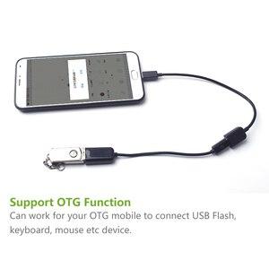 Кабель-удлинитель Micro USB 5Pin Male-Female M/F OTG, удлинитель для синхронизации данных и клавиатуры, usb-флешка 10 см 100 см