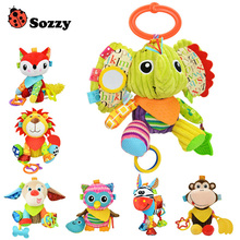 Wholesale 7pcs/lot Sozzy Multi Function Baby Rattle Bell Infant Baby Crib Stroller Hanging Toy