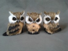 simulation owl 9×7 cm model toy polyethylene & furs owl model,one lot/ 3 pieces ,home decoration gift t223