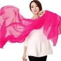 Emulación de seda color puro bufandas Veces filar toalla mantón de la manera bufanda de invierno mujeres pañuelos echarpe pashmina bufanda de la gasa