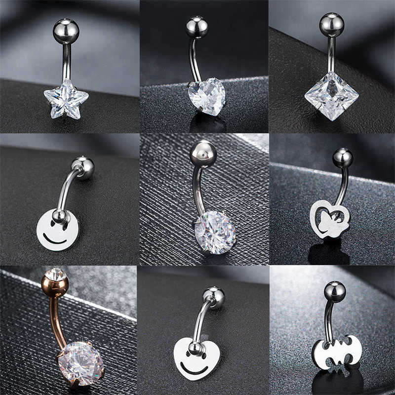 New Fashion Trendy Hot Sexy Simple Lounger Medical Stainless Steel Belly Button Rings Navel Piercing Women Piercing Jewelry