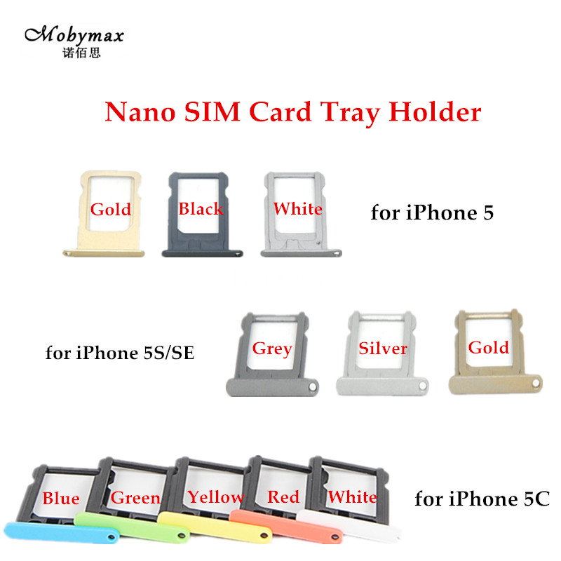 Nano SIM Card Tray Holder For iPhone 5 5C 5S SE SIM Holder Slot Tray Container Adapter Replacement for iPhone 5 5C 5S SE