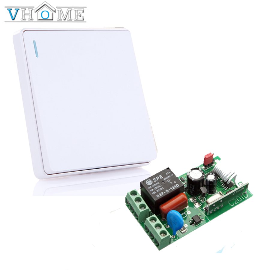 Vhome Wireless button Remote Control  RF 433 Mhz 220V Switch Learning Code Receiver Transmitter Hall Bedroom Ceiling Lights 2pcs receiver transmitters with 2 dual button remote control wireless remote control switch led light lamp remote on off system