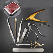 10pcs/set Nail Scissors Clipper Nail Tools Cutter Nail File Manicure Set Make up 2016 Free Shipping