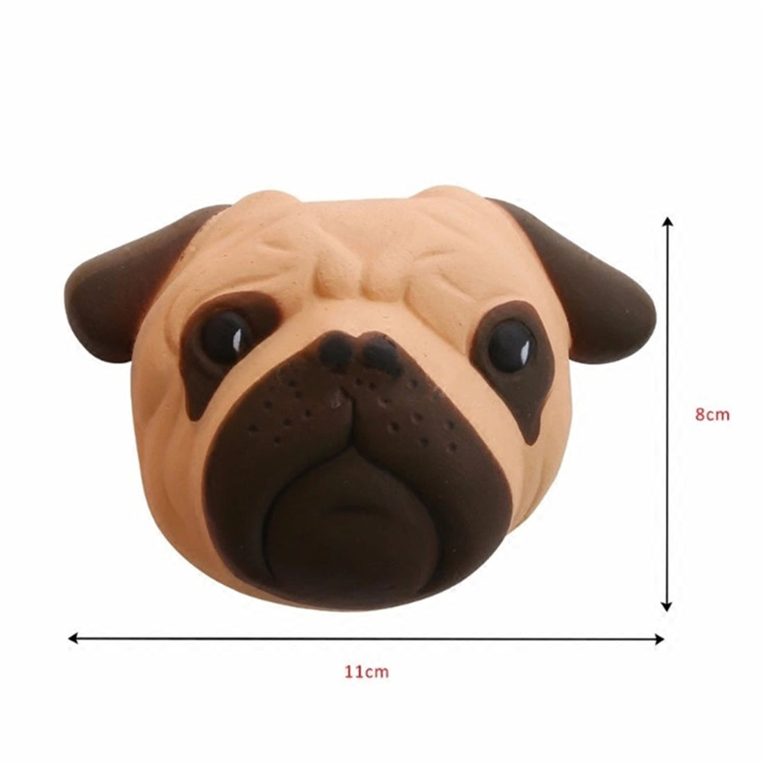Lovely 11 8 CM Pugs Puppy Little Dog Squishy font b Toy b font Phone Straps