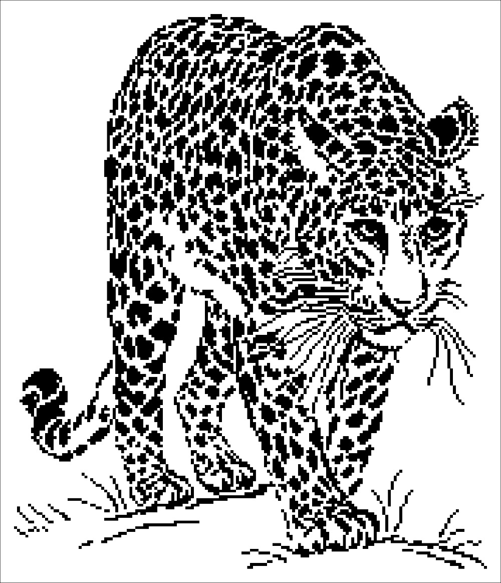 Leopard cross stitch package simple animal 18ct 14ct 11ct
