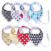2020 New Cotton Baby Bibs  Easy to Carry Nipple Feeding Towel  Cartoon Newborn Infants Toddler Triangle Scarf  Cute Burp Cloths