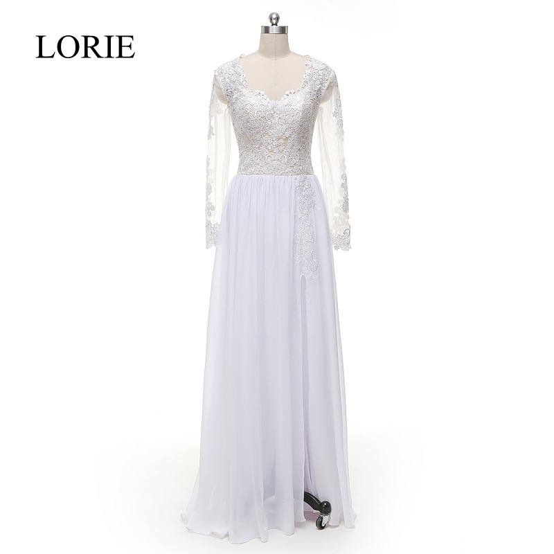 Cheap Wedding Gowns With Sleeves: Aliexpress.com : Buy LORIE Long Sleeves Wedding Dresses