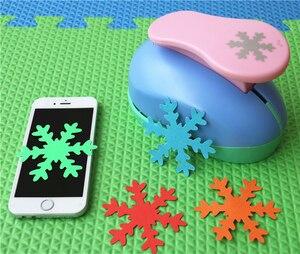 Image 2 - 8cm Schneeflocke 3 Große DIY Handwerk Punch Für EVA Puncher Karte machen Kreative Präge gerät Schreibwaren Kinder Scrapbooking s2888
