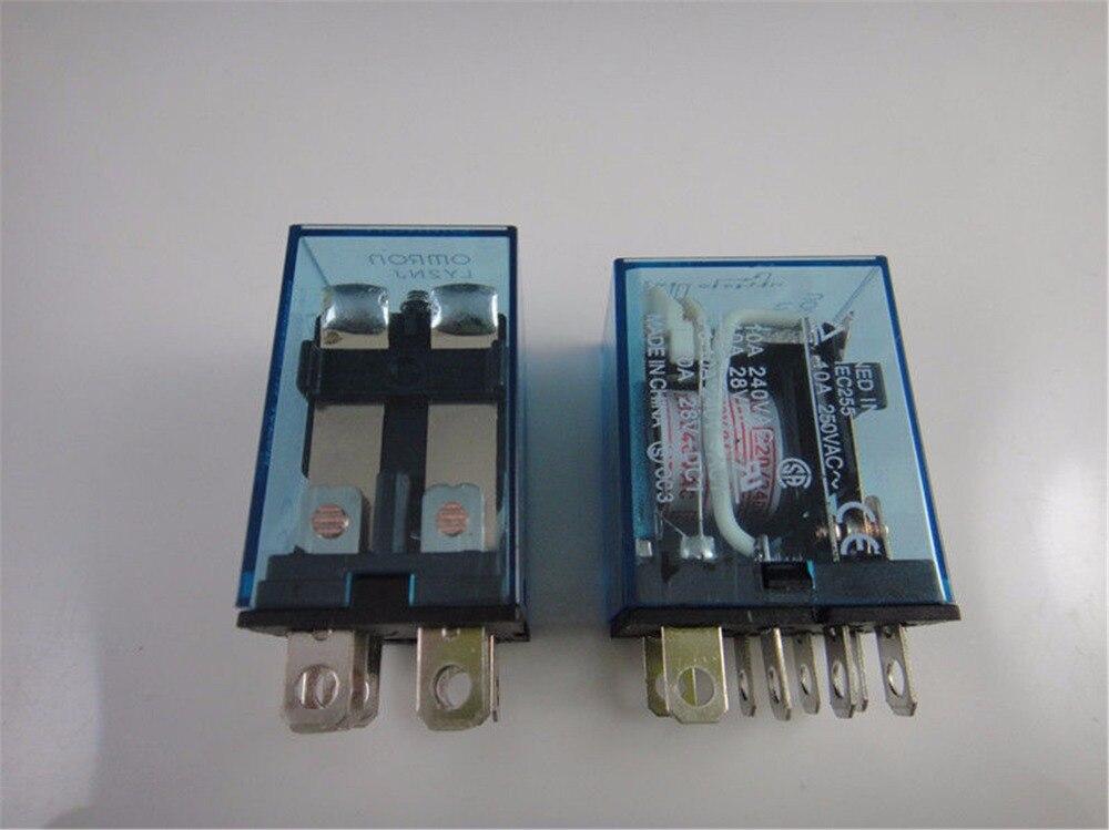 5pcs Mini Relay LY2NJ 8 Pin 10A With LED Intermediate