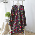 Fashion single plus size female spring and autumn long-sleeve nightgown polar fleece fabric sleepwear lounge nightgown maternity