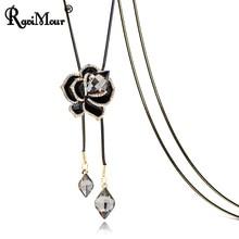 RAVIMOUR Black Rose Flower