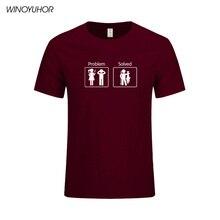 Fishinger Löst Probleme T Shirt Kurzarm Custom männer Kleidung Sommer Neue Art Und Weise O ansatz Baumwolle Männer T Shirts
