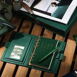 Cuaderno de negocios de alta calidad espiral 6 agujeros Agenda gruesa Filofax lindo A5 A6 diario Personal regalo de la muchacha