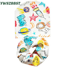 Baby Hat Bibs scarf sets Kids sun caps Boys Girls Saliva Towel Toddler Bandana Triangle Scarf hats Wholesale