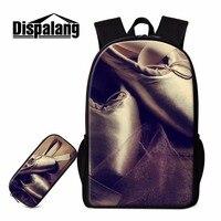 Dispalang Cute Backpack for Girls Ballet Print Schoolbag Lightweight Shoulder Bookbags for Teenager Primary Students Back Pack
