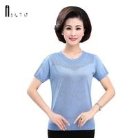 ASLTW High Quality Female T shirt Summer New Short Sleeve T shirts For Women O Neck Tshirt Plus Size Thin Female Shirt
