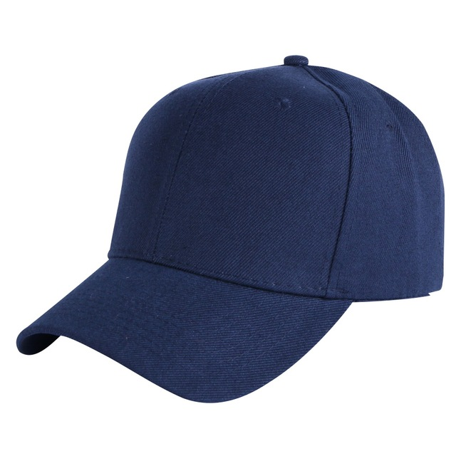 cheap promotion women men solid color cap outdoor casual sports caps 58 CM  adjustable white black red navy snapback hats e9ab23db533