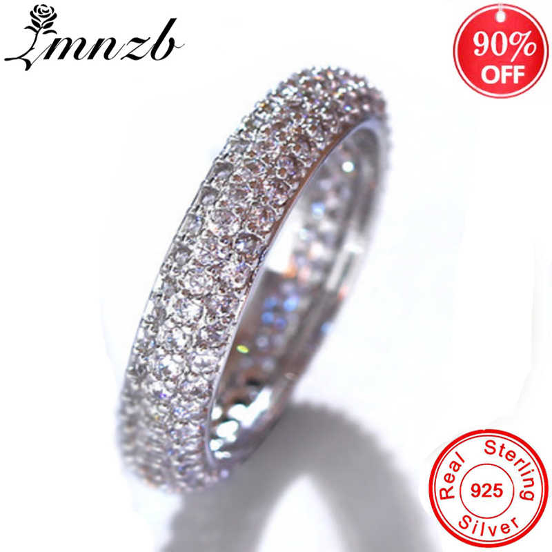90% off! Luxury Shining Cubic Zircon Ring Original 925 Silver Rings Women Brand Design Finger Wedding Ring Fine Jewelry LR0562