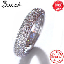 90% off! Luxury Shining Cubic Zircon แหวน Original 925 แหวน(China)