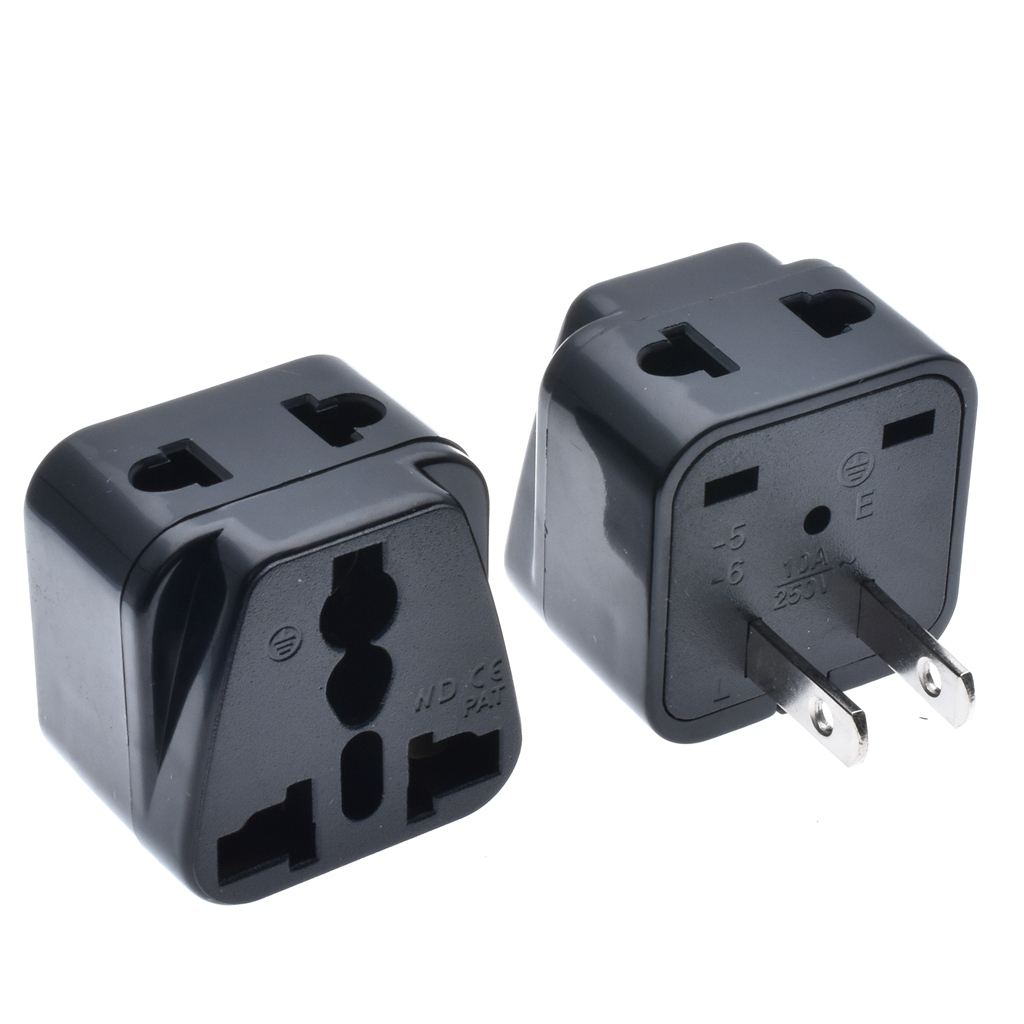 Travel Adapter Eu To Uk Us 5 9 Off 2pcs White Black 2 Flat Pin Travel Adapter Au Uk Eu To Us Plug Splitter Travel Wall Ac Power Adapter 250v 10a Socket Converter In